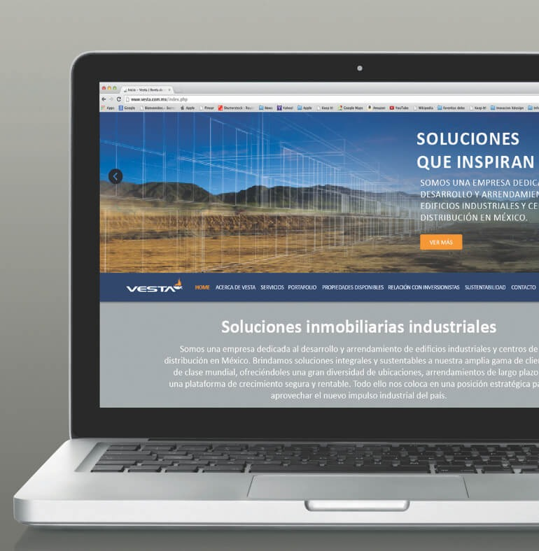 Web Site Corporativo -  Vesta