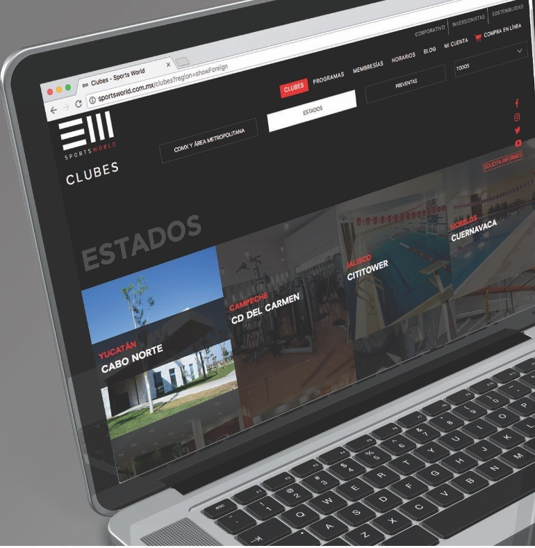 Web Site Corporativo -  Sports World